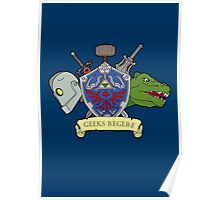 Geeks Rule Pocket Motif Poster