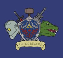 Geeks Rule Pocket Motif by TopNotchy