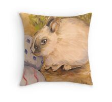 Vanilla and the Easter Eggs Throw Pillow