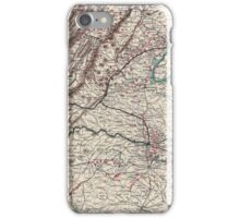 Civil War Maps 1075 Map showing the location of battle fields of Virginia iPhone Case/Skin