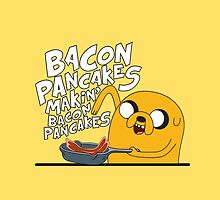 Jake / Bacon Pancakes (Phone - Yellow) by KalliroeTrope