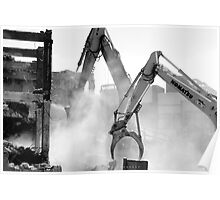 demolition of Fred Ash building Poster