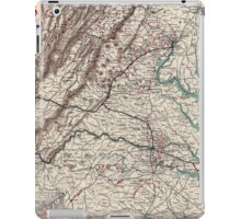 Civil War Maps 1075 Map showing the location of battle fields of Virginia iPad Case/Skin