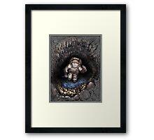 Lunar Glacier Framed Print