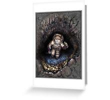 Lunar Glacier Greeting Card
