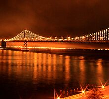 Bay Bridge - San Francisco by Honor Kyne