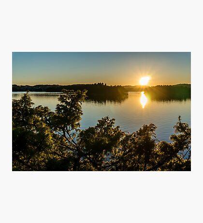 Troldhaugen sunset, Norway, Bergen Photographic Print