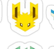 Trixel Eveelutions Sticker