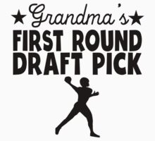 Grandma's First Round Draft Pick Football One Piece - Short Sleeve