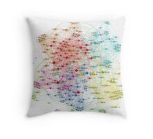 The Graph Of Baseball Players Throw Pillow