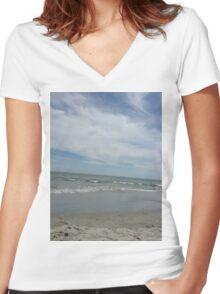 Avalon Beach Women's Fitted V-Neck T-Shirt