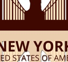 New York USA Sticker