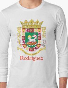 Rodriguez Shield of Puerto Rico Long Sleeve T-Shirt