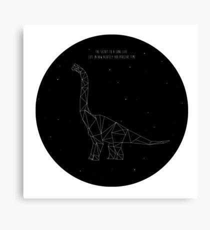 Wise Brachiosaurus Canvas Print