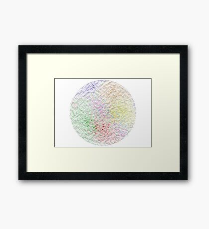 The Graph Of Ideas Framed Print