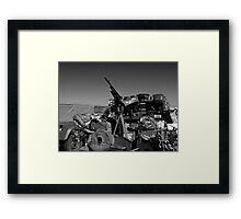 Army mobile equipment Framed Print