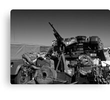 Army mobile equipment Canvas Print