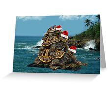 MM.. I LOVE TURTLES -- CHRISTMAS TURTLES -- PILLOW>TOTE BAG>PICTURE AND OR CARD Greeting Card