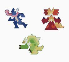Trixel Kalos Starters by etall