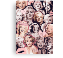 Marilyn Monroe Collage Canvas Print