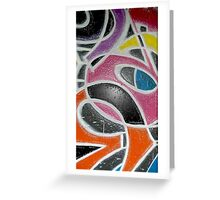 Graffiti Abstracts Greeting Card