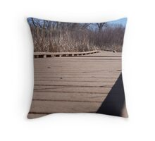 Walk into the ponds Throw Pillow