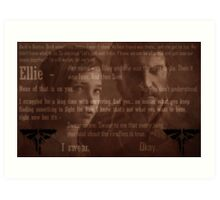 The Last of Us Ending Lines (SPOILERS) - Colour Art Print