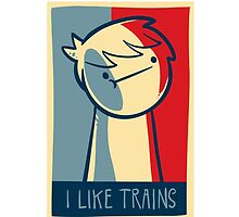 "iphone 5 deflector case ""I like trains"" by Supsnow"