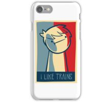 "iphone 5 deflector case ""I like trains"" iPhone Case/Skin"