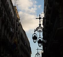 A Necklace of Barcelona Streetlamps by Georgia Mizuleva