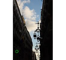 A Necklace of Barcelona Streetlamps Photographic Print