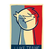 "iphone 4 deflector case ""I like trains"" by Supsnow"