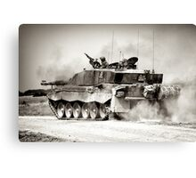 """Heavy Armour""- Challenger 2 Main BattleTank (MBT) British Army Canvas Print"