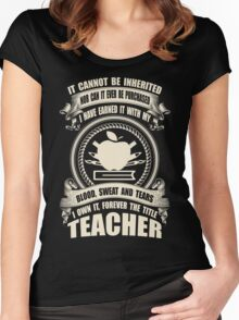 Forever The Title - Teacher Women's Fitted Scoop T-Shirt