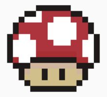Red Mario Mushroom by Neysa Tapanes