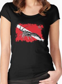 Dive Spiny Lobster Rip Women's Fitted Scoop T-Shirt