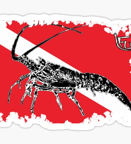 Dive Spiny Lobster Rip Sticker