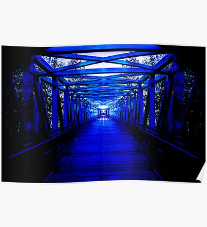 Infinity Blue Bridge Poster
