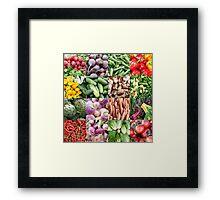 Vegetable Grid  Framed Print