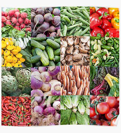 Vegetable Grid  Poster