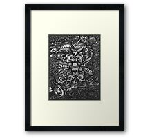 Facepage 02 Psychedelic Poster  Framed Print