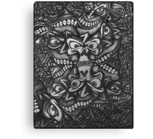 Facepage 02 Psychedelic Poster  Canvas Print