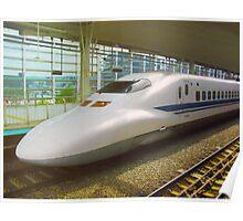 Shinkansen bullet train, Japan Poster