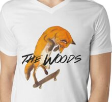 Skater Fox Mens V-Neck T-Shirt