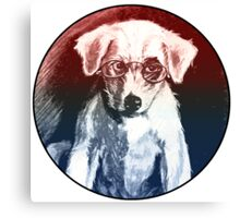 Dog With Glasses Canvas Print