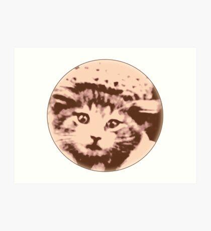 Kitty Gal Art Print