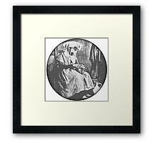 Old Dog Maid - Black and white Framed Print