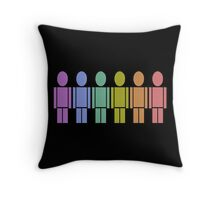 gay rainbow Throw Pillow