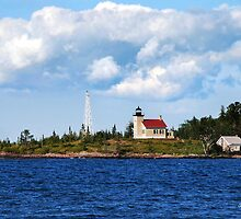 Copper Harbor Lighthouse Michigan USA by Christina Rollo