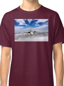 Avro Vulcan head on above clouds Classic T-Shirt